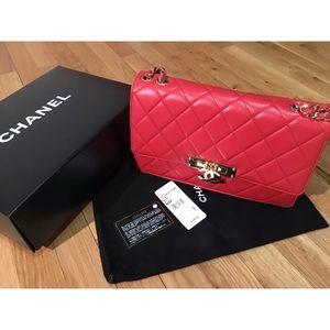 Red Chanel Limited Seasonal Shoulder Bag